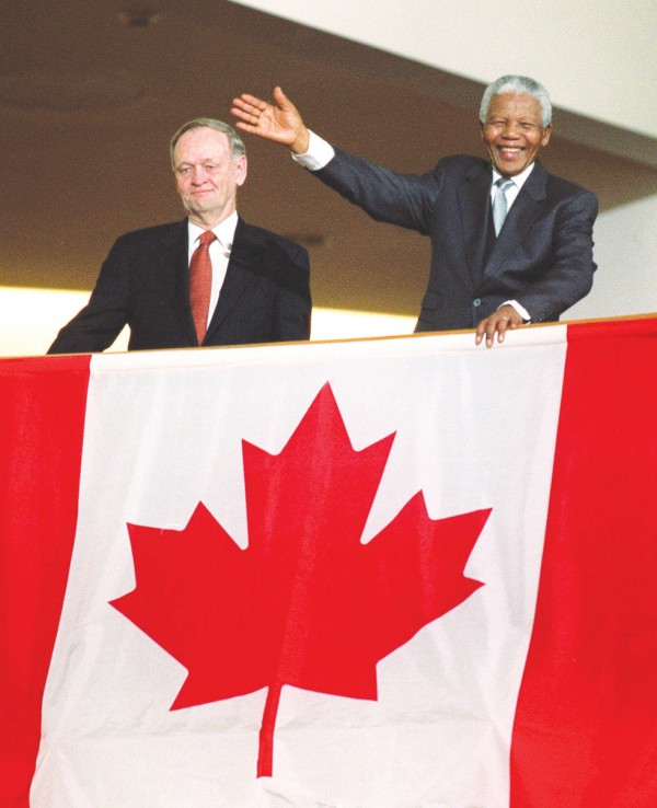 On November 19, 2001, Nelson Mandela became an honorary Canadian citizen.