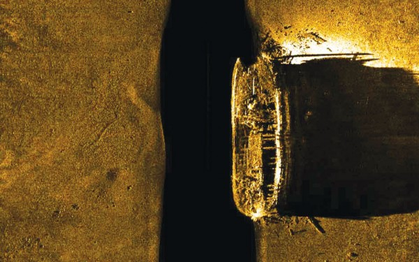 One of the Franklin ships found in the Arctic. (Courtesy of Parks Canada )