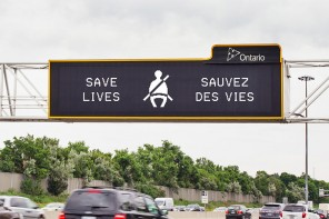 Ontario's bilingual electronic highway signs going color