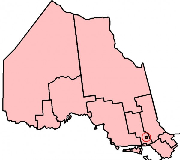 The electoral district of Sudbury consists of the part of the City of Greater Sudbury bounded on the west and south by the Greater Sudbury city limits, and on the north and east by a line drawn from the western city limit of Greater Sudbury east along the northern limit of the former Town of Walden.