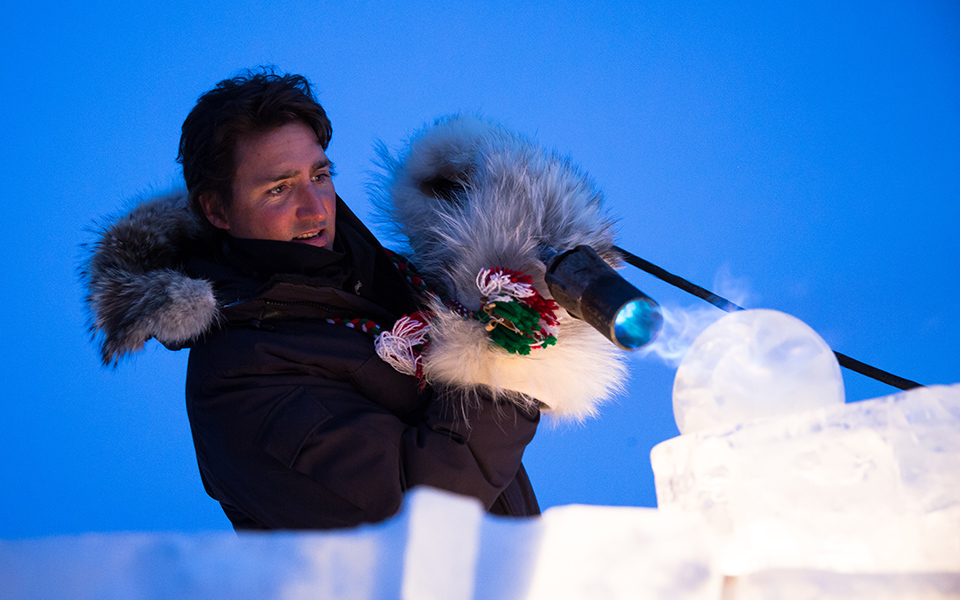 Justin Trudeau in Iqaluit on Saturday, January 10, 2015.