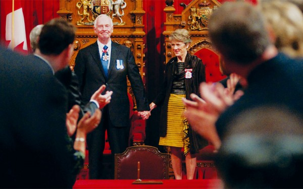 David Johnston is joined by his wife Sharon as he is introduced for the first time as Governor  General of Canada on October 1st, 2010.                                                                                                                                                                                          Photo Credit: PMO