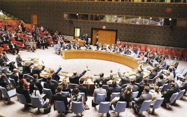 The Security Council unanimously adopts resolution establishing a monitoring system for Iran's nuclear programme. (UN Photo / Devra Berkowitz)