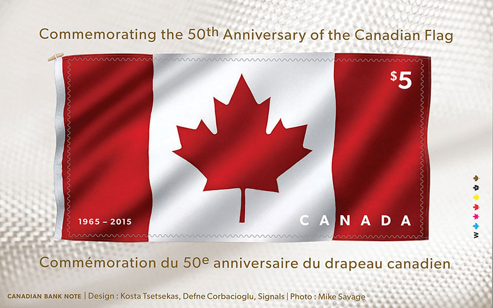 Fabric stamp from Canada Post honors Canadian flag's 50th
