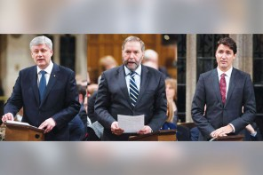 Amid swooning markets, leaders battle over who's best suited to manage  Canada's economy