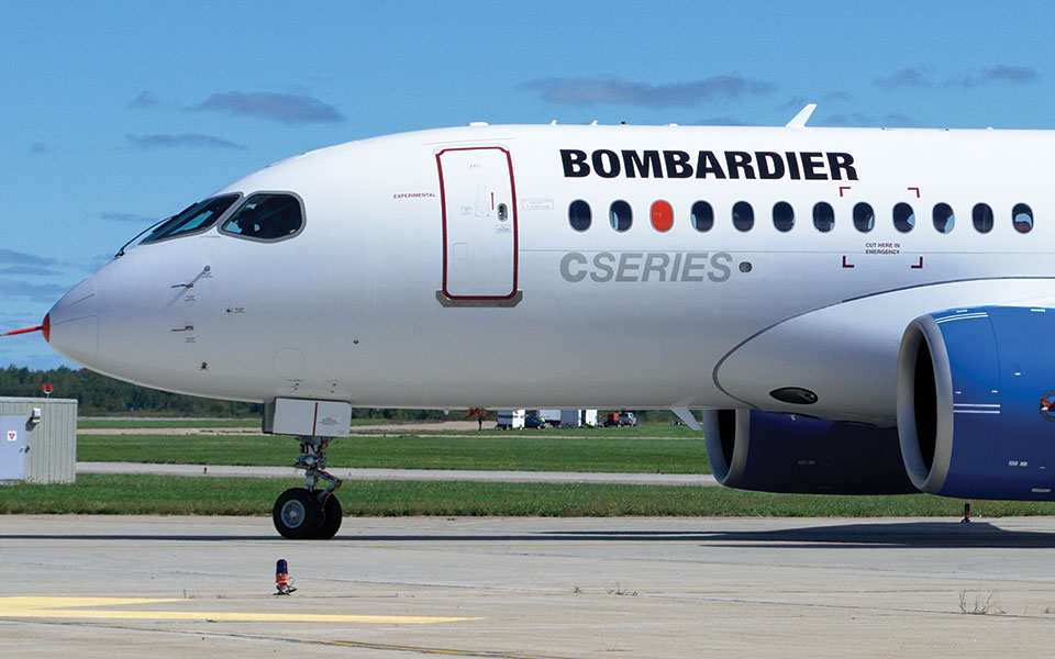 Bombardier's CS100 after its first flight
