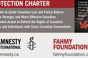Fahmy, Amnesty call for 'charter' to protect Canadians jailed overseas