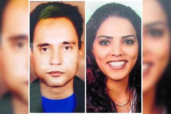The victim Jaskaran Singh (right) and the alleged perpetrator Pawandeep Kaur.