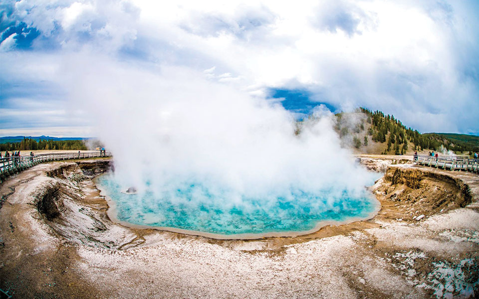 Photo of the Grand Prismatic Spring in Yellowstone National Park posted on the FB Page of the group known as High on Life SundayFundayz. The Grand Prismatic Spring is the largest hot spring in the United States and the third largest in the world.