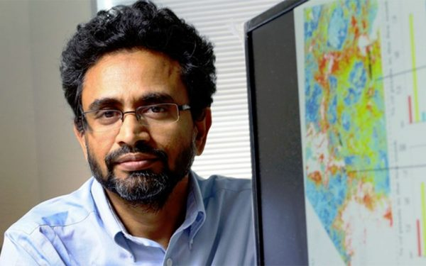 Results from University of Calgary engineer Quazi Hassan's initial research have led to the Natural Sciences and Engineering Research Council of Canada (NSERC) to renew his funding to continue his multi-year research into forecasting where forest fires might strike. (Photo by Colleen De Neve – University of Calgary)