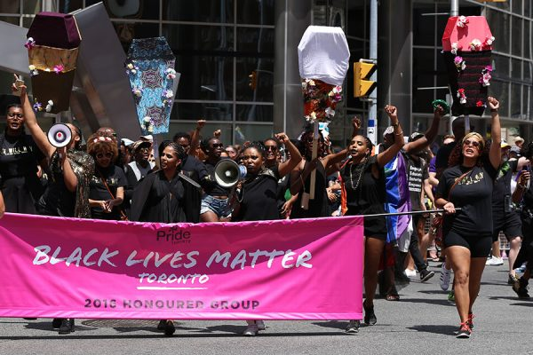 Black Lives Matter Toronto march in this year's Pride Parade on July 3, 2016. (Photo: Flickr – Pride Toronto)