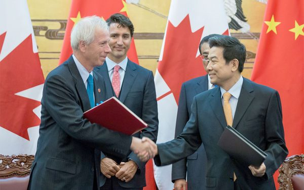 Minister Dion during Prime Minister Justin Trudeau's first official visit to China last month.  (Photo: PMO)