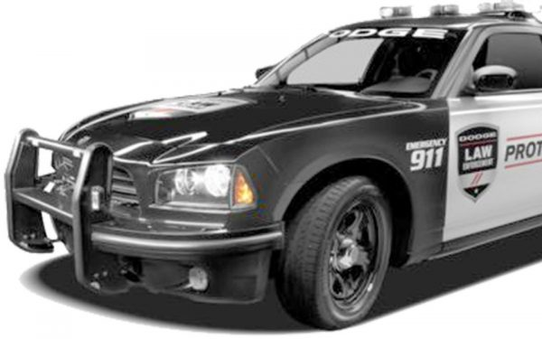 Dodge Charger police car.