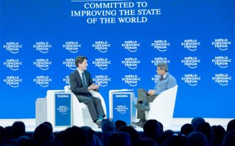 Prime Minister Justin Trudeau at the 2016 World Economic Forum in Davos, Switzerland.