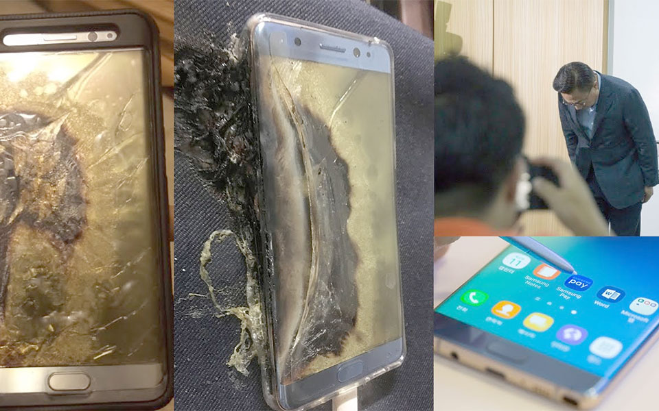 "On September 2, 2016, Samsung suspended sales of the Galaxy Note 7 and announced a voluntary recall (referred to as a ""product exchange program""), after it was found that a manufacturing defect in the phones' batteries had caused some of them to generate excessive heat, resulting in fires and explosions. A formal U.S. recall was announced on September 15, 2016. Samsung exchanged the affected phones for a new revision, which utilized batteries sourced from a different supplier. However, in early October 2016, reports emerged of incidents where these replacement phones also caught on fire. On October 10, 2016, in response to the new incidents, Samsung announced that it would once again suspend sales of the Galaxy Note 7 and recall all devices worldwide. The next day, Samsung also announced that it would permanently discontinue the Galaxy Note 7 and cease its production"