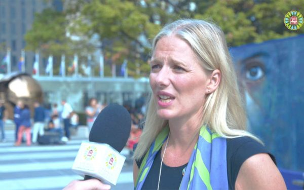 Catherine McKenna, Canada's Environment and Climate Change, speaking on the sidelines of the conference in Marrakech.