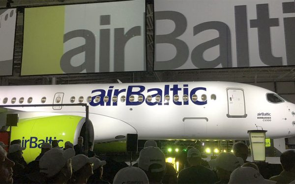 Bombardier delivers its first CS300 to airBaltic on Monday, November 28th.