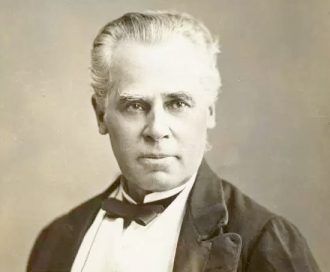 Sir George-Étienne Cartier was a principal architect of Canadian federalism and a proponent of Confederation as a means of safeguarding French Canada and other minorities. Cartier led Quebec into the Dominion and later participated in the expansion of Canada west to the Pacific and north to the Arctic Ocean.
