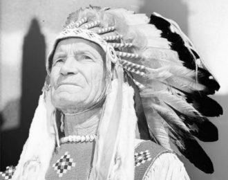 "James Gladstone, a member of the Kainai (Blood) First Nation whose Blackfoot name is Akay-na-muka, meaning ""Many guns,"" committed himself to the betterment of Indigenous peoples in Canada. In 1958, he became Canada's first senator of First Nations origin."