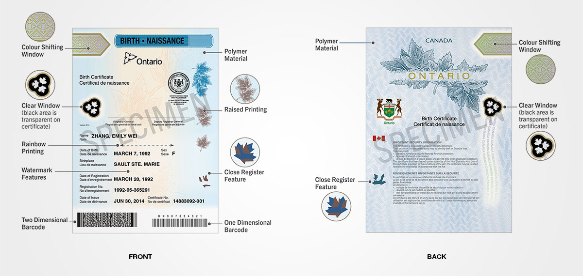 How to get a new birth certificate ontario
